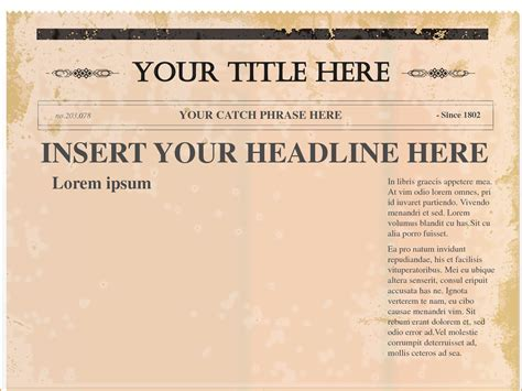 powerpoint newspaper templates 6 newspaper template word teknoswitch