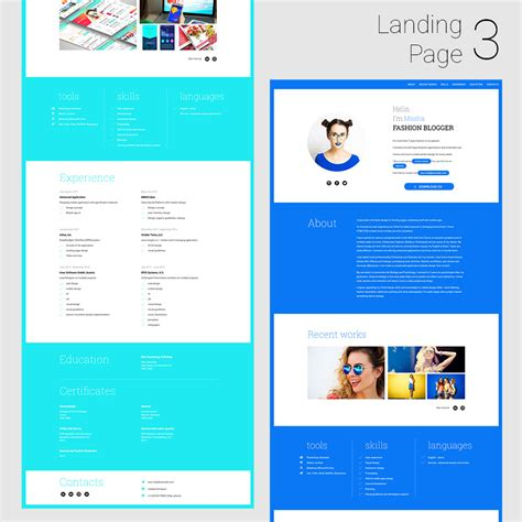 Simplecv Animated Responsive Cv And Resume Html5 Template Download Nulled Rip Simple Landing Page Template