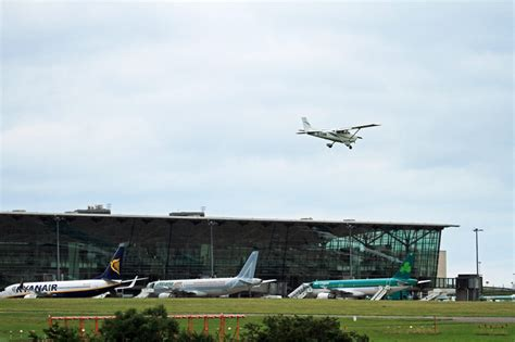 Aer Lingus Help Desk Cork Airport by Cessna 172 Ei Eam From Atlantic Flight Landing