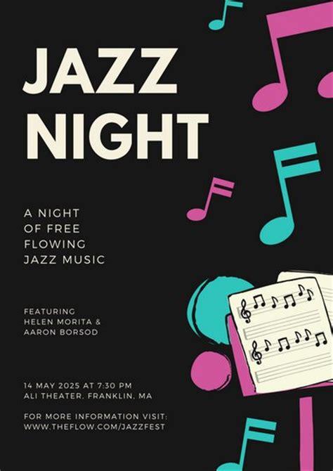 canva jazz customize 307 music poster templates online canva