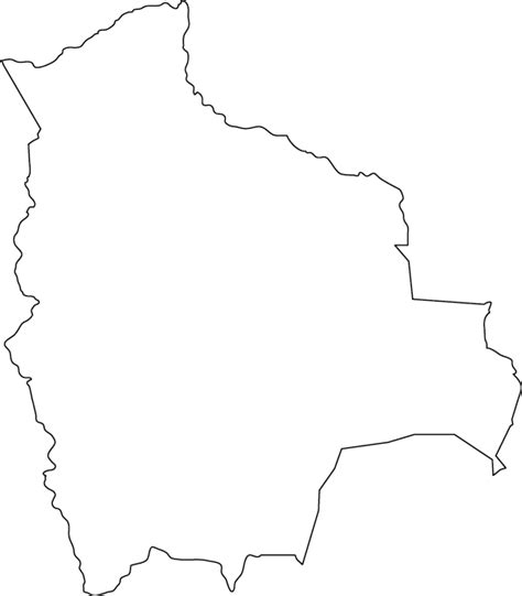 South America Country Outlines by Bolivia Map Free Coloring Pages
