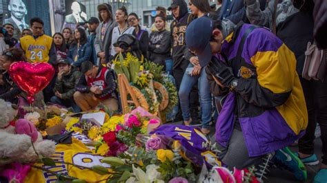 touching kobe memorial formed  staples center