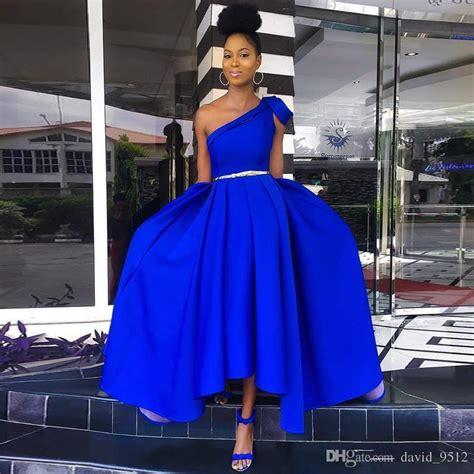 simple high  royal blue prom dresses