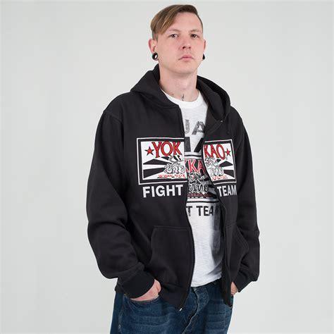 Sweater Squad Hitam Fightmerch yokkao fight team zipped hoodie