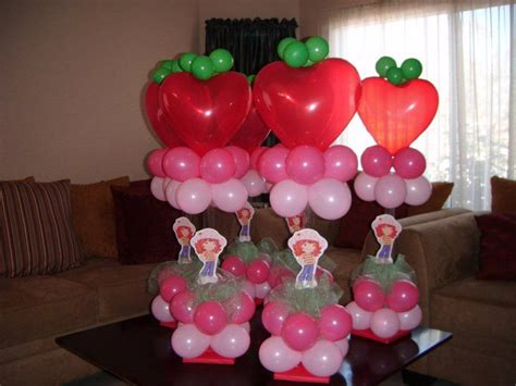 strawberry shortcake centerpieces strawberry shortcake