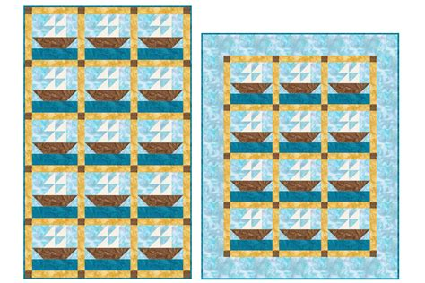 sailboat sizes cute sailboats baby quilt pattern in two sizes
