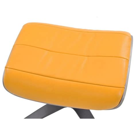 yellow leather ottoman enzo yellow leather ottoman el dorado furniture