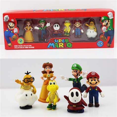 6 Pcs Bros Dagu Juntai Fashion mario bros luigi mario acci 243 n figuras juguetes d compra lotes baratos de mario
