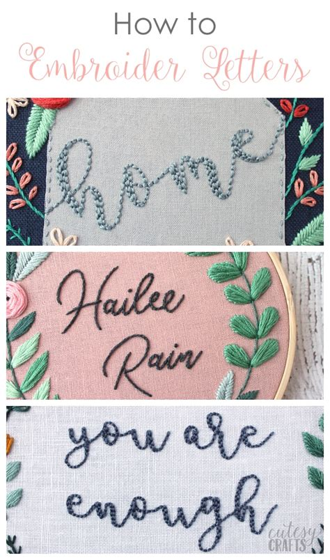 embroidery letters how to embroider letters by cutesy crafts