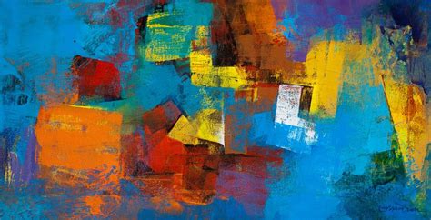 Red And Blue Bedroom Ideas blue horizontal abstract by artist siddhesh rane acrylic