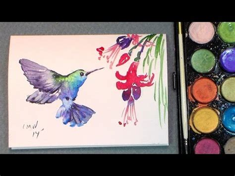tutorial watercolor hummingbird let s paint a hummingbird thefrugalcrafter s weblog