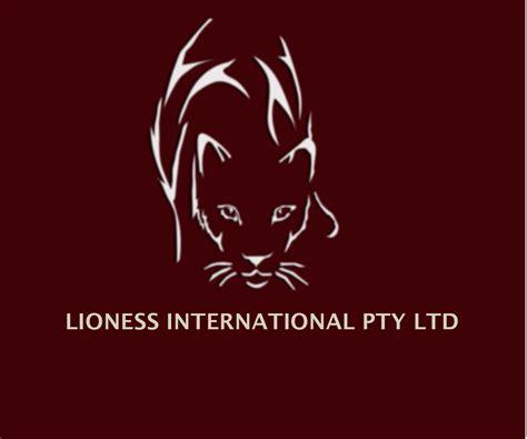 design effect pty ltd feminine bold logo design for lioness international pty