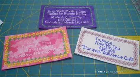 Handmade Labels For Quilts - quilting affection designs embroidary quilt labels
