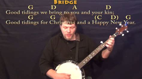 merry christmas christmas banjo cover lesson    chordslyrics youtube