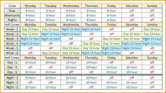 shift schedule bing images