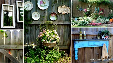 decorating a backyard get creative with these 23 fence decorating ideas and