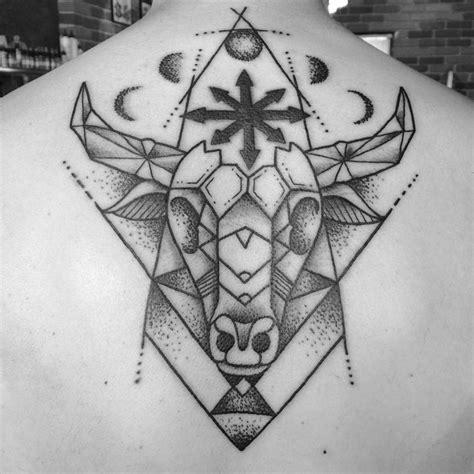 geometric tattoo taurus geometric taurus symbol by chad leever tattoonow