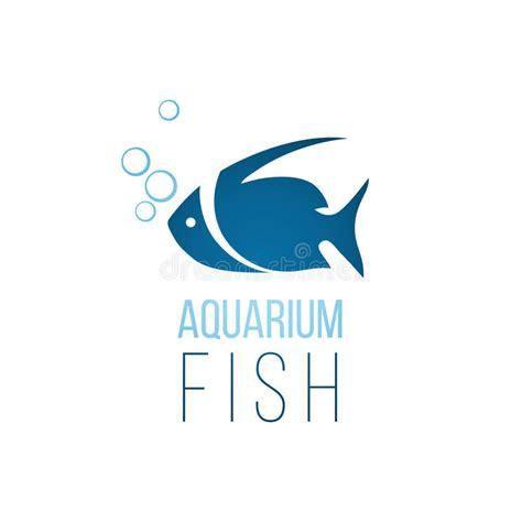 aquarium logo design aquarium fish logo template stock vector image 48617296