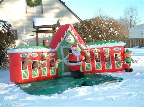 santa reindeer stable inflatable 75 best santa and friends images on items holidays