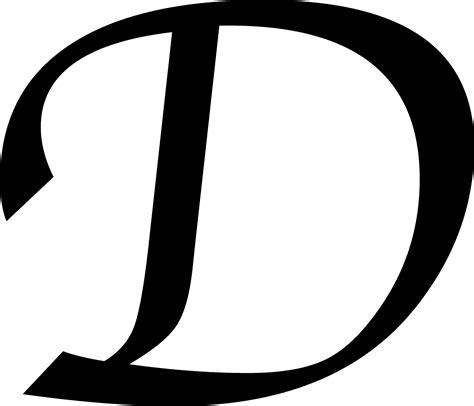 The D A letter d clip 101 clip