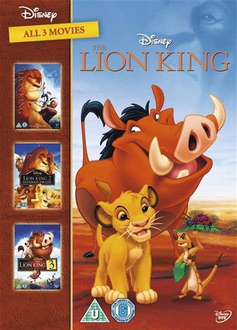 film lion king 3 the lion king trilogy dvd hmv store