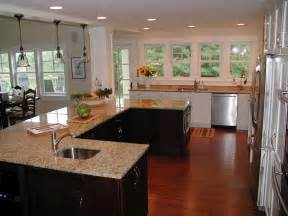 U Shaped Kitchen Layout With Island Photos Hgtv