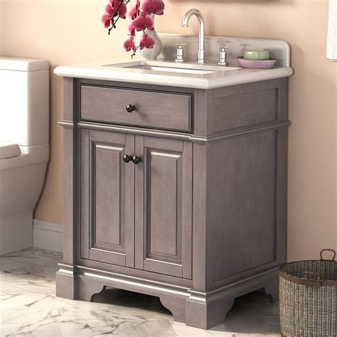 abel 28 inch rustic single sink bathroom vanity marble top
