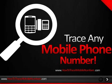 trace mobile phone number track a mobile number