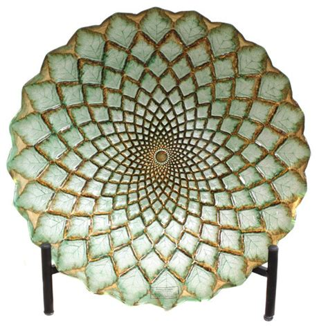 casa cortes hand painted gold weave artisan glass