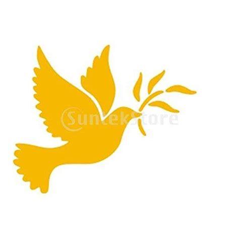 pochoir de peinture murale motif colombe de la paix maison art decoration amazonfr bricolage