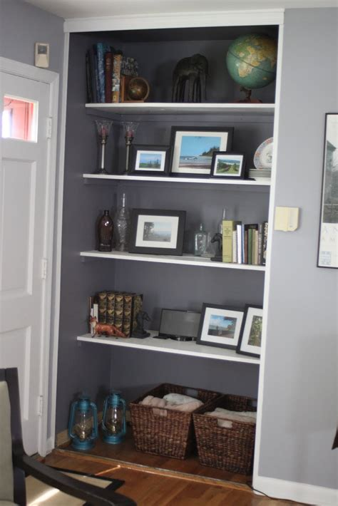 Bookshelf In Closet by Meadowvale Finds Built In Shelves