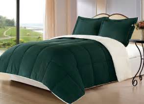 Blue And Brown Comforter Sets Queen Borrego H Green Queen Size Bed 3pc Sherpa Berber Down