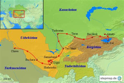 usbekistan regionen karte usbekistan karte zentralasien rundreise legend 228 re