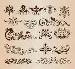 decorative design decorative floral design elements vector