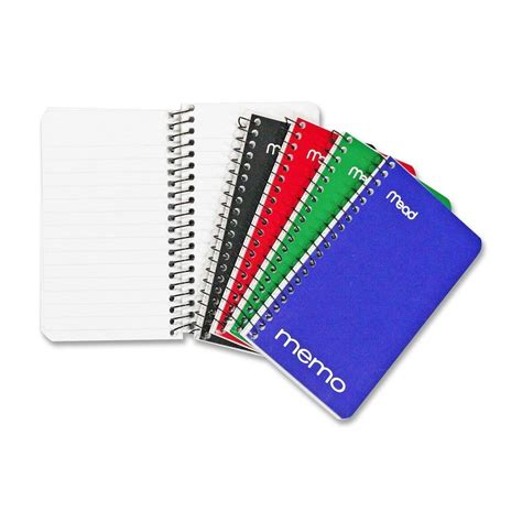 Mood Color Spiral Ruled Notepad mead wirebound memo books 5 x 3 inches pack
