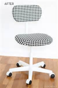 Office Chair Makeover Diy Before And After Thrifted Office Chair Gets A