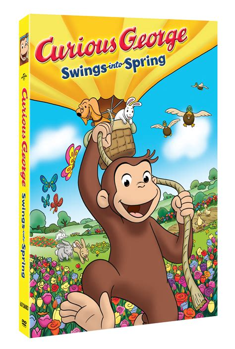 curious george swings curious george quot swings into spring quot dvd available