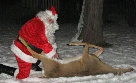 santa gutting  doe hunting humor creepy christmas