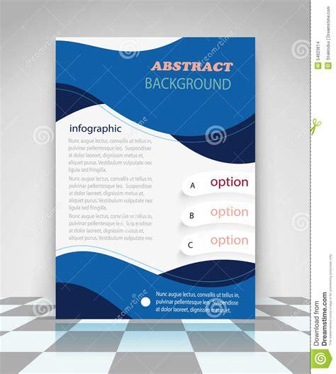 creative flyer design vector blue abstract business flyer design stock vector image