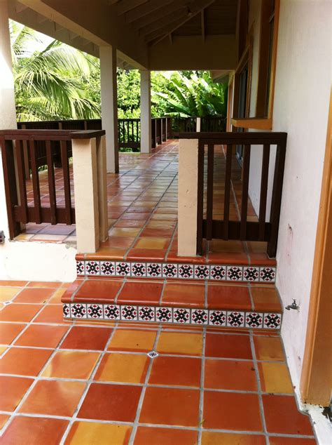 saltillo tile outdoor patio