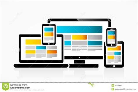 web layout vector responsive web design stock vector image of comfortable