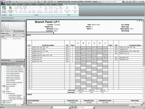 revit mep template autodesk revit mep 2011 panel schedule templates