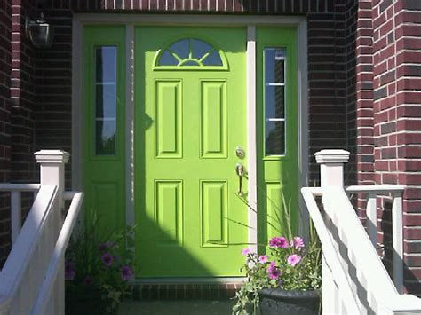 lime green door red brick ranch house with blue doors 2015 home design ideas