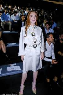 Lindsay Lohan Keeps Parts In Freezer by Lindsay Lohan Dazzles In A Satin Gown In Madrid
