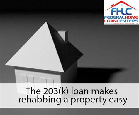 what is a 203 k anyway federal home loan centers