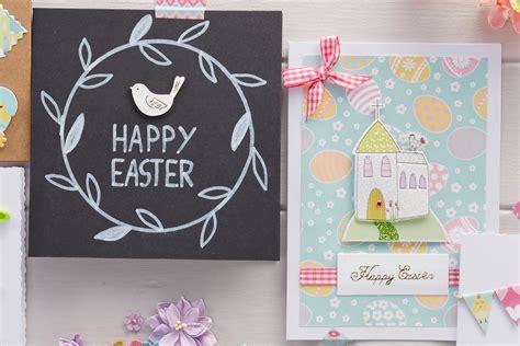 papercraft card ideas how to make a church topper easter card hobbycraft