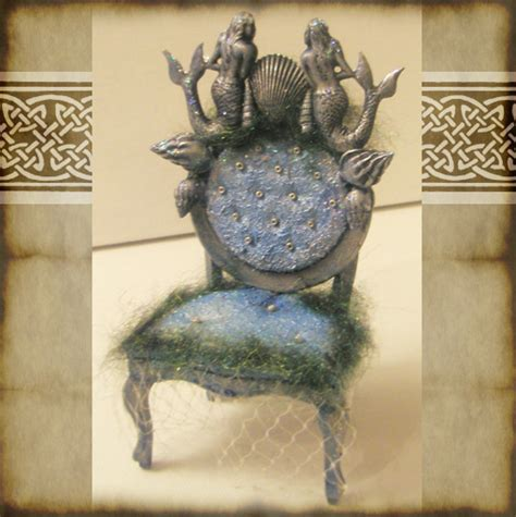 The Mermaid Chair by Dollhouse Mermaid Chair By Grimdeva On Deviantart