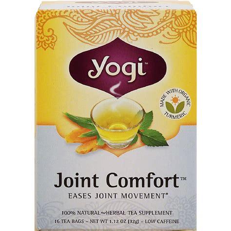 yogi joint comfort tea yogi joint comfort herbal tea supplement eases joint