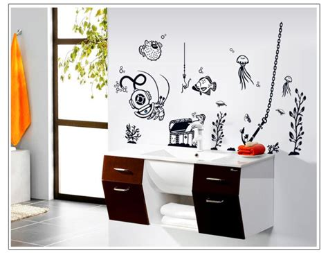 Free Shipping Home Decor Free Shipping 1pcs 60 90cmremovable Wall Stickers Sea Animals Room Bathroom Nursery Home