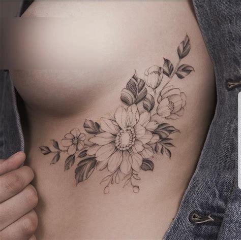 underboob tattoos underboob flower tattoos